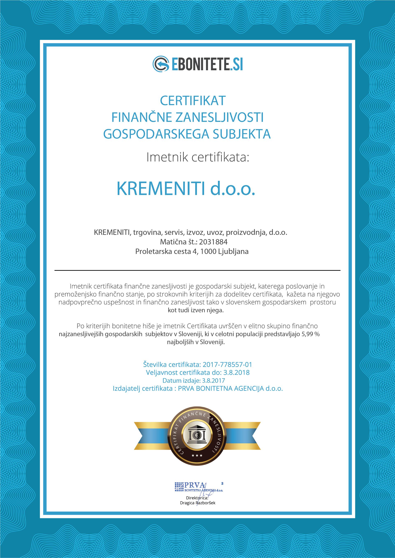 Kremeniti-2031884-Certif